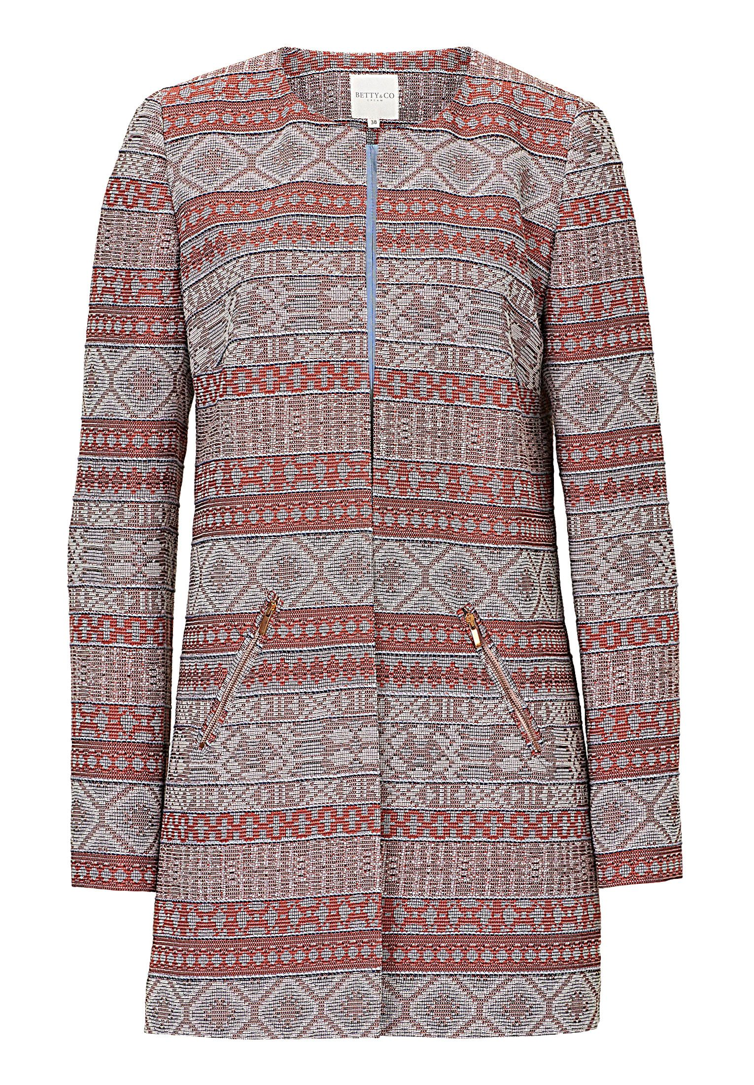 Betty & Co. Striped tapestry coat, Blue