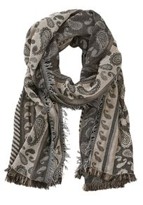 Betty & Co. Long paisley weave scarf