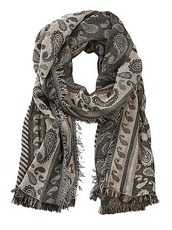 Long paisley weave scarf