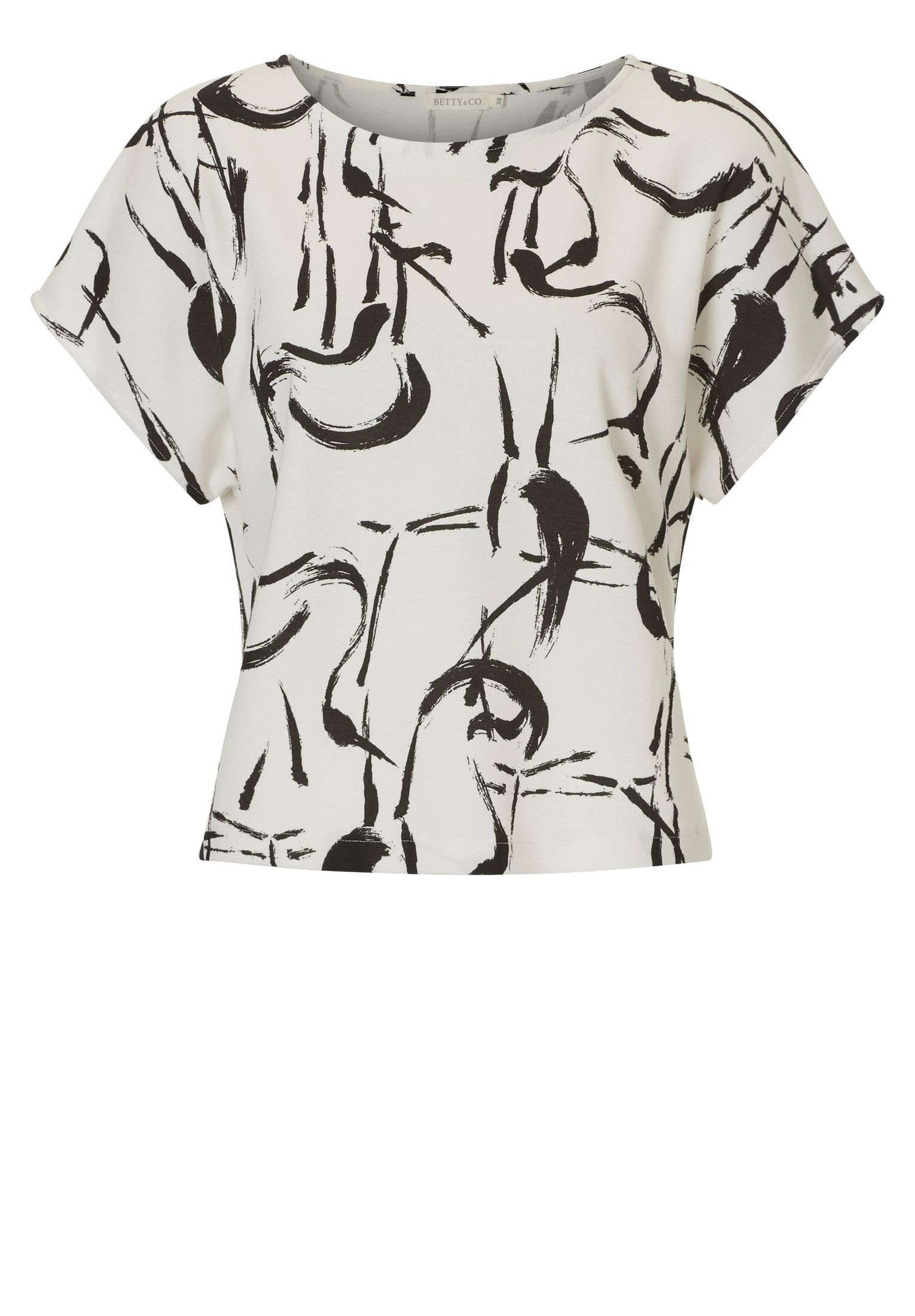 Betty & Co. Printed jersey top, Multi-Coloured