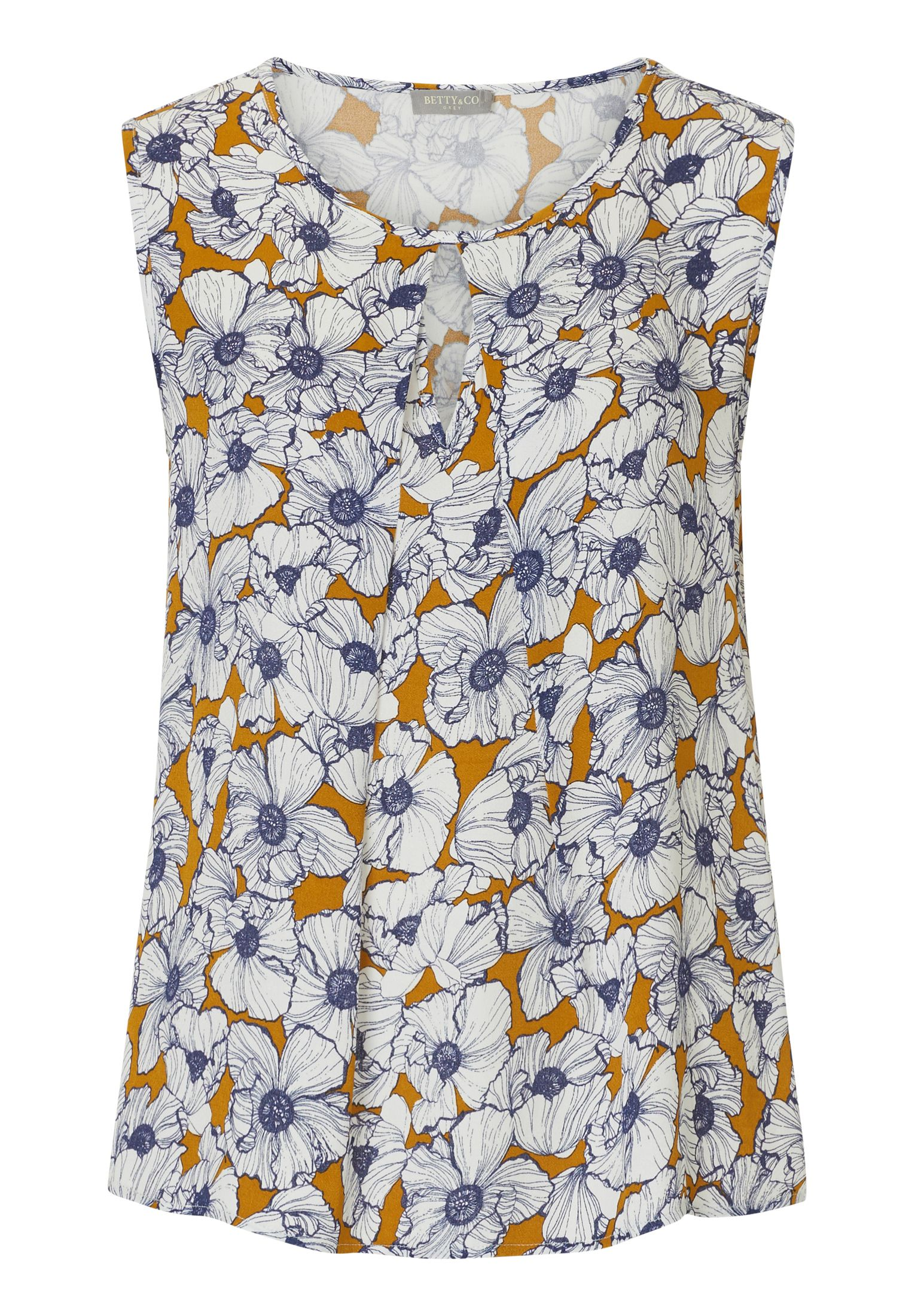 Betty & Co. Sleeveless floral print top, Multi-Coloured