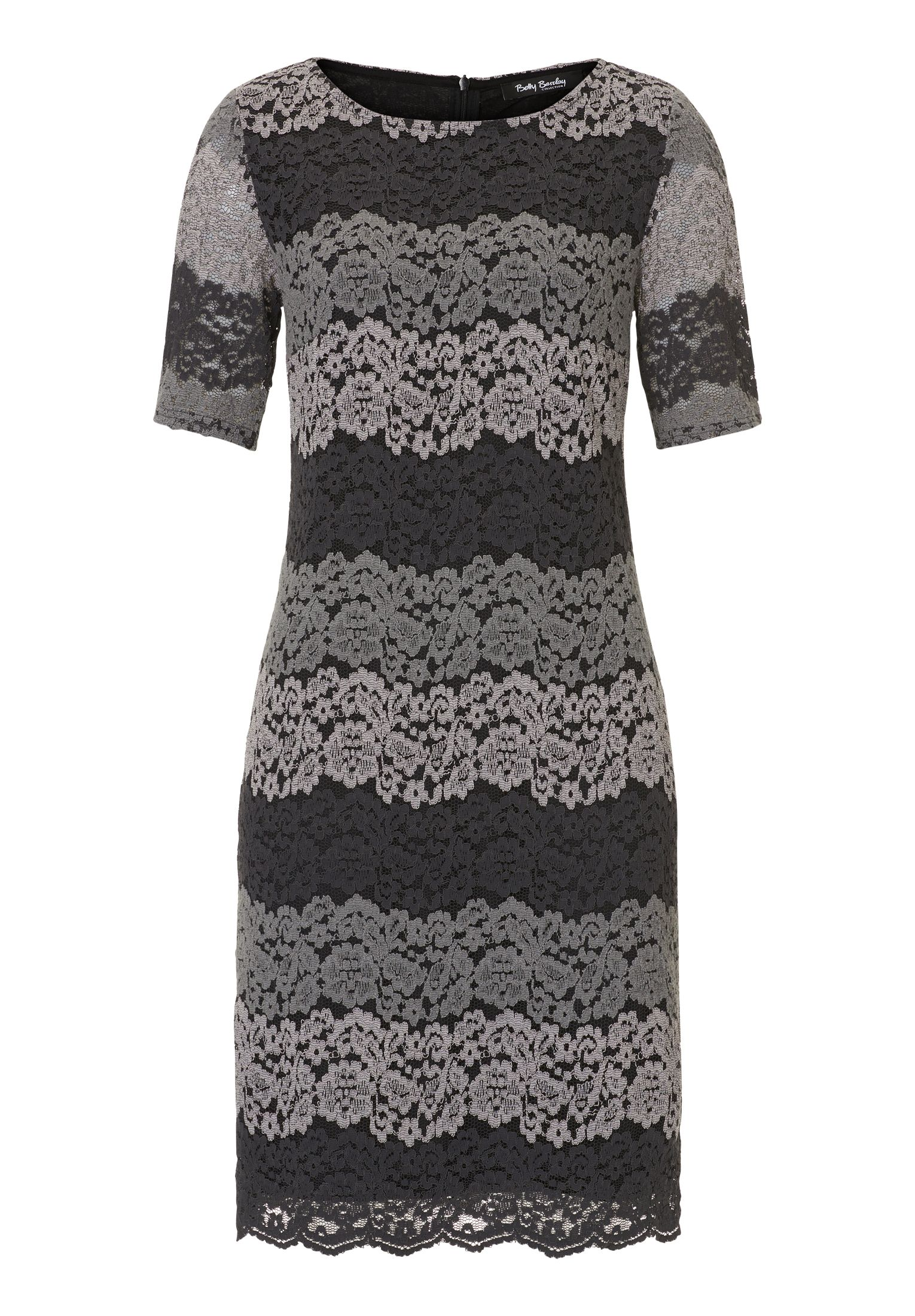 Betty Barclay Lace shift dress, Grey