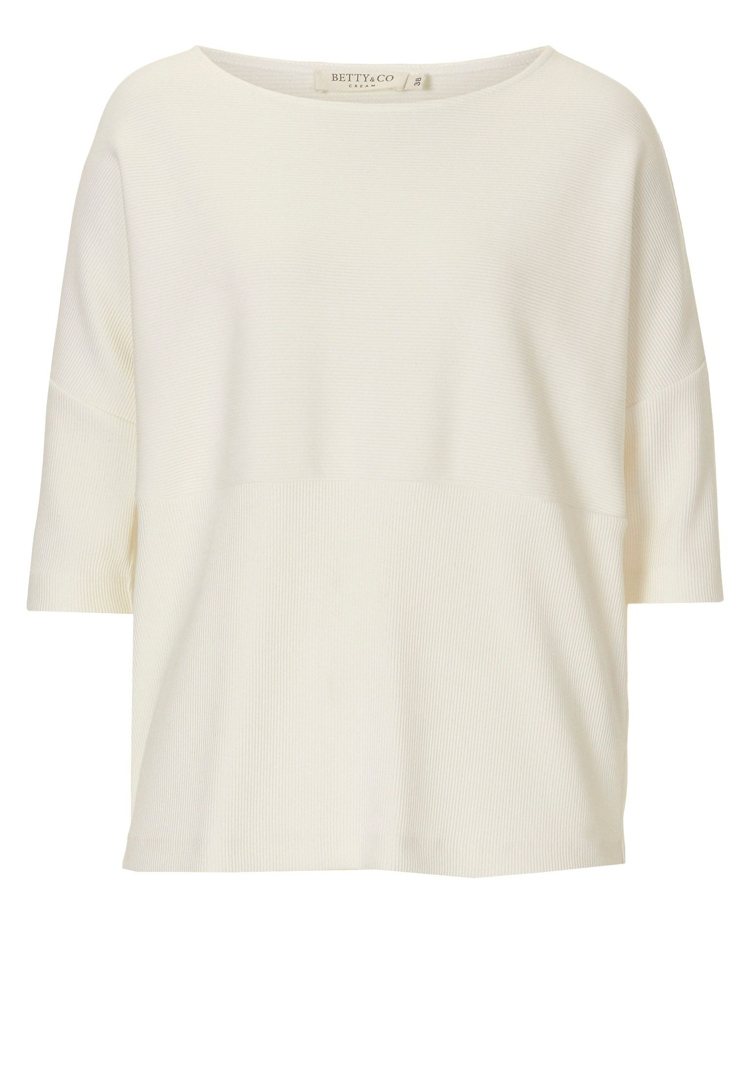 Betty & Co. Fine ribbed top, White