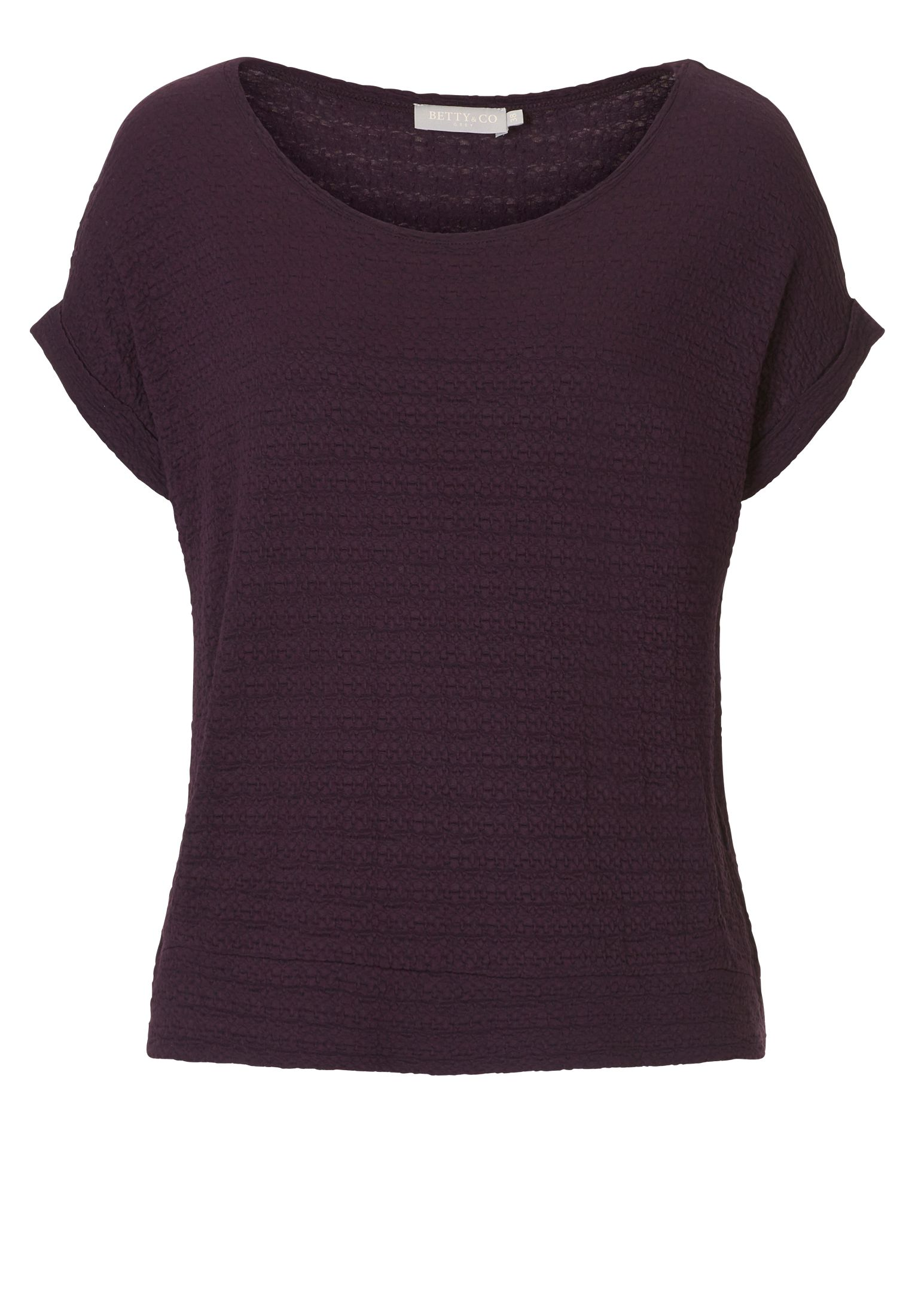 Betty & Co. Cap sleeved textured top, Purple