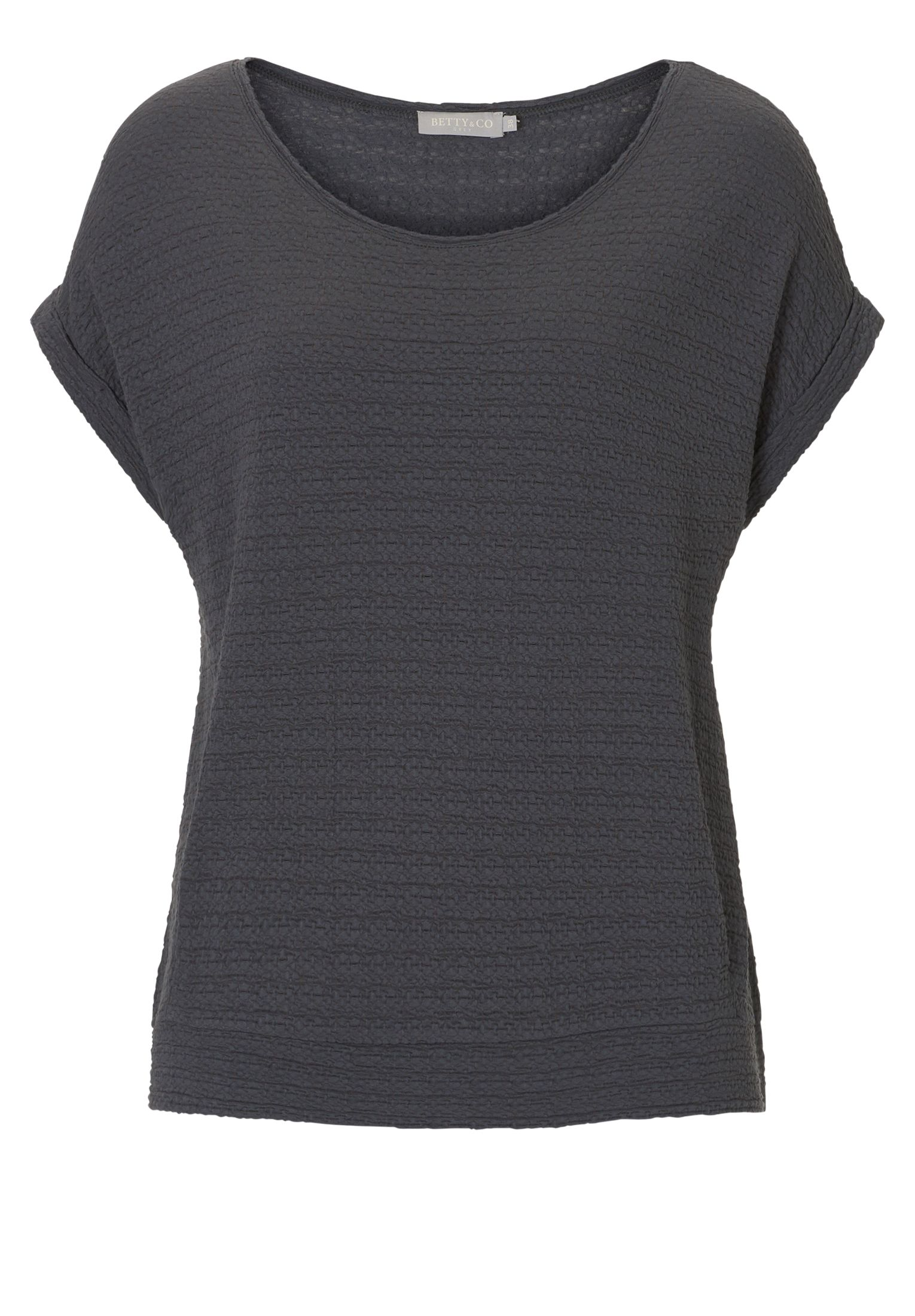 Betty & Co. Cap sleeved textured top, Silverlic