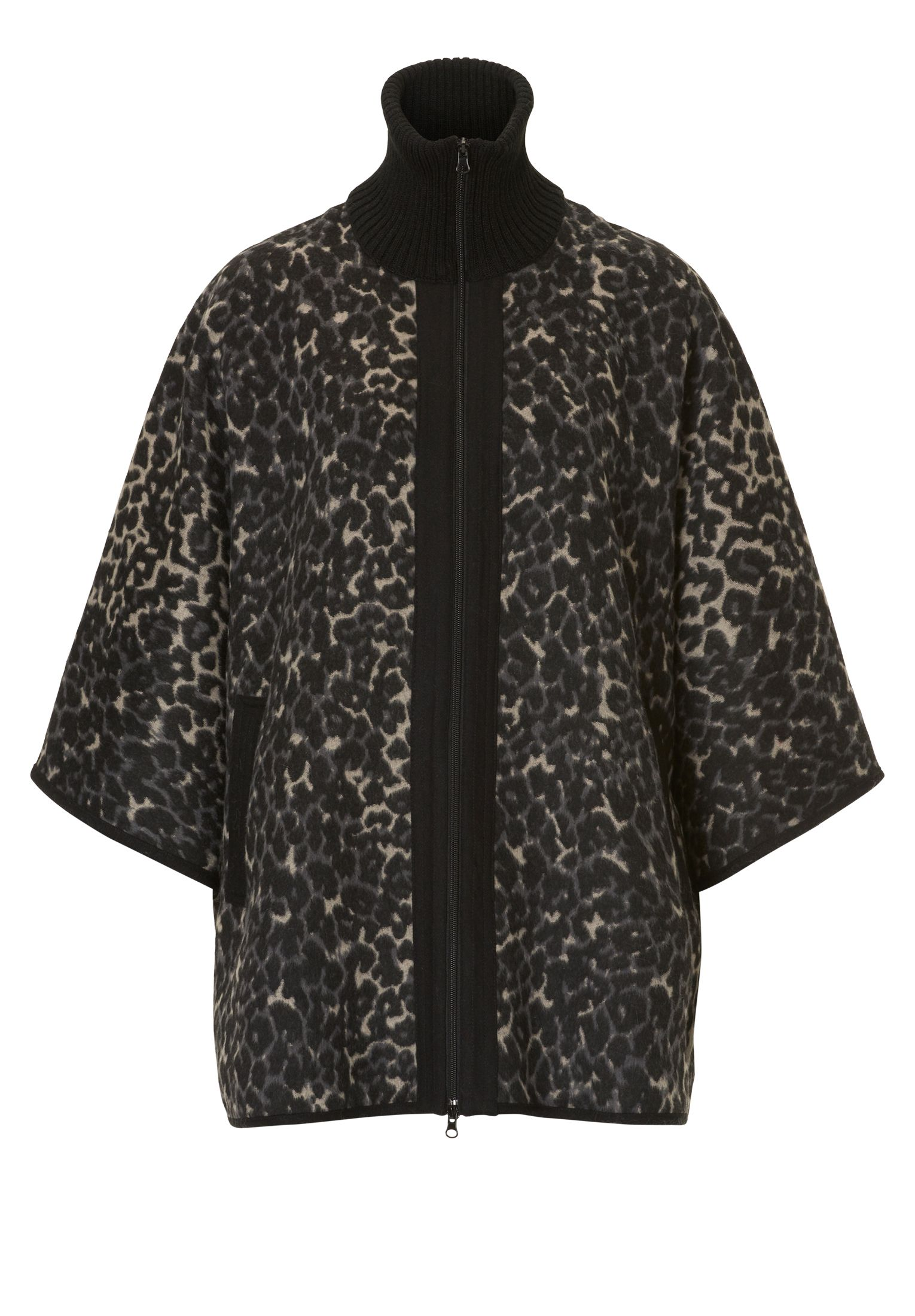 Betty Barclay Animal print batwing poncho jacket, Multi-Coloured