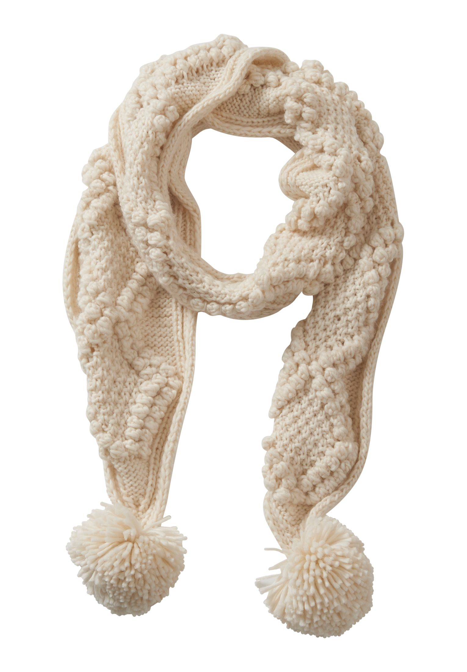 Betty Barclay Chunky knit scarf, White