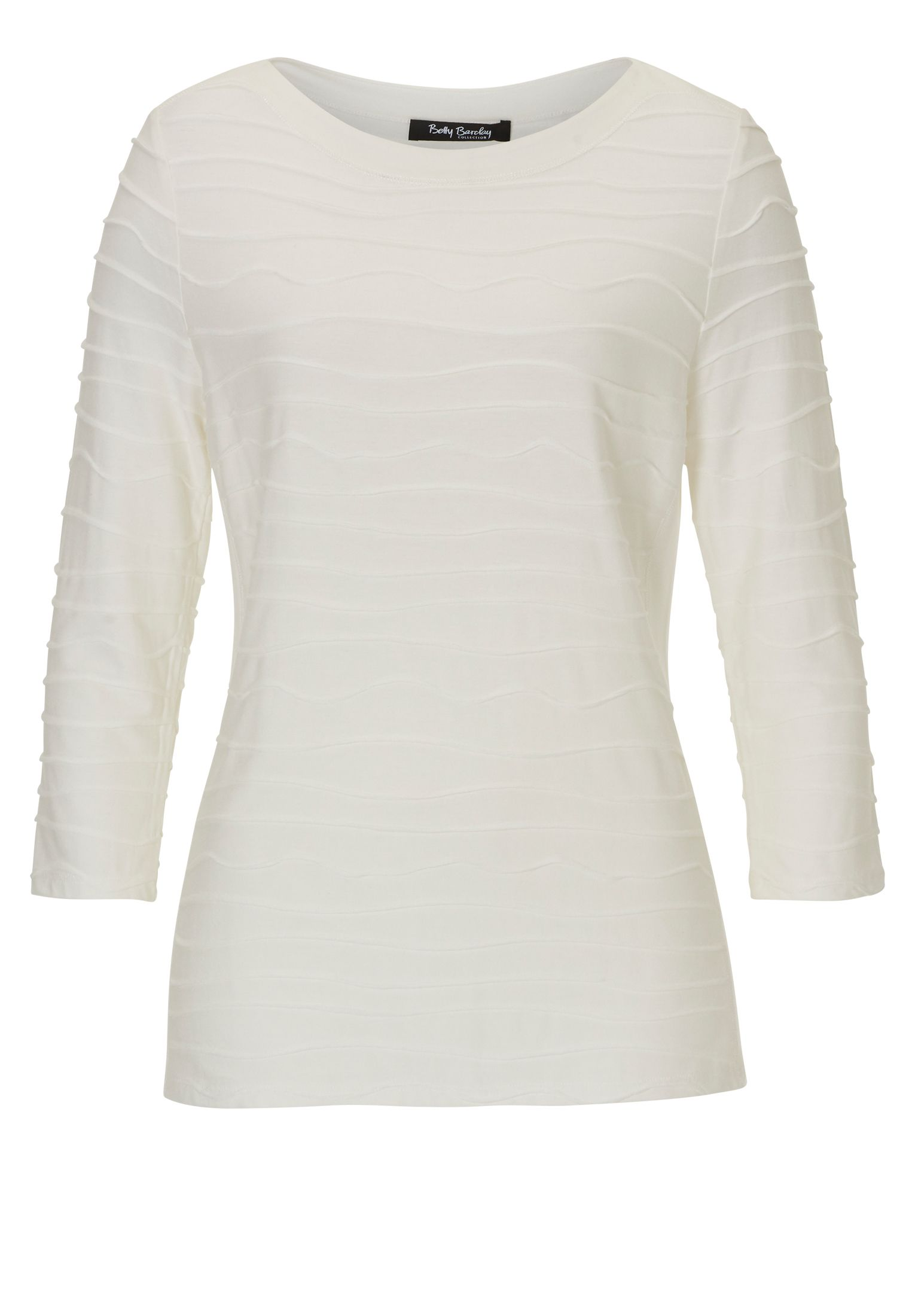 Betty Barclay Ripple ribbed top, Off White