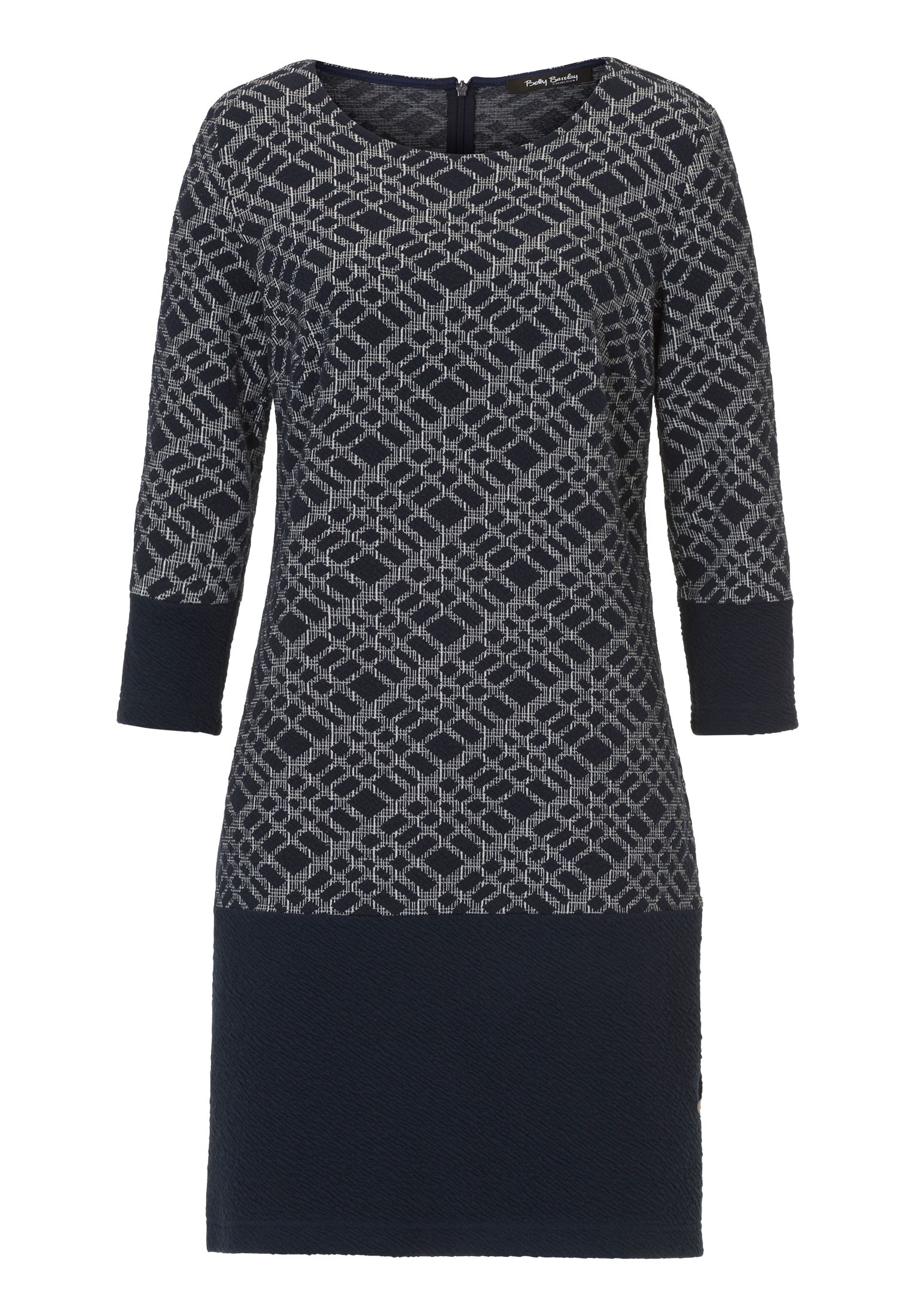 Betty Barclay Graphic textured dress, Multi-Coloured