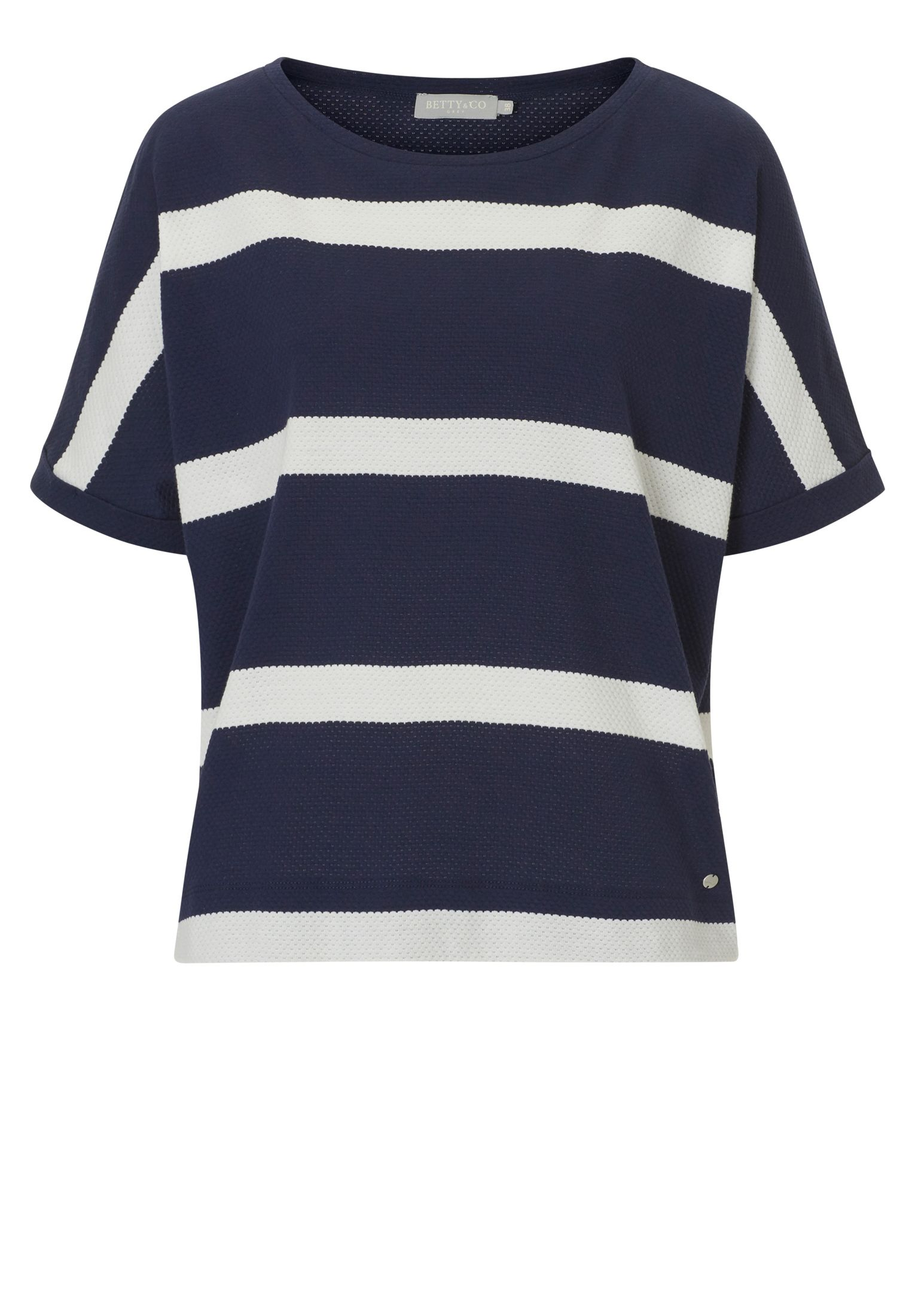 Betty & Co. Textured striped top, Multi-Coloured