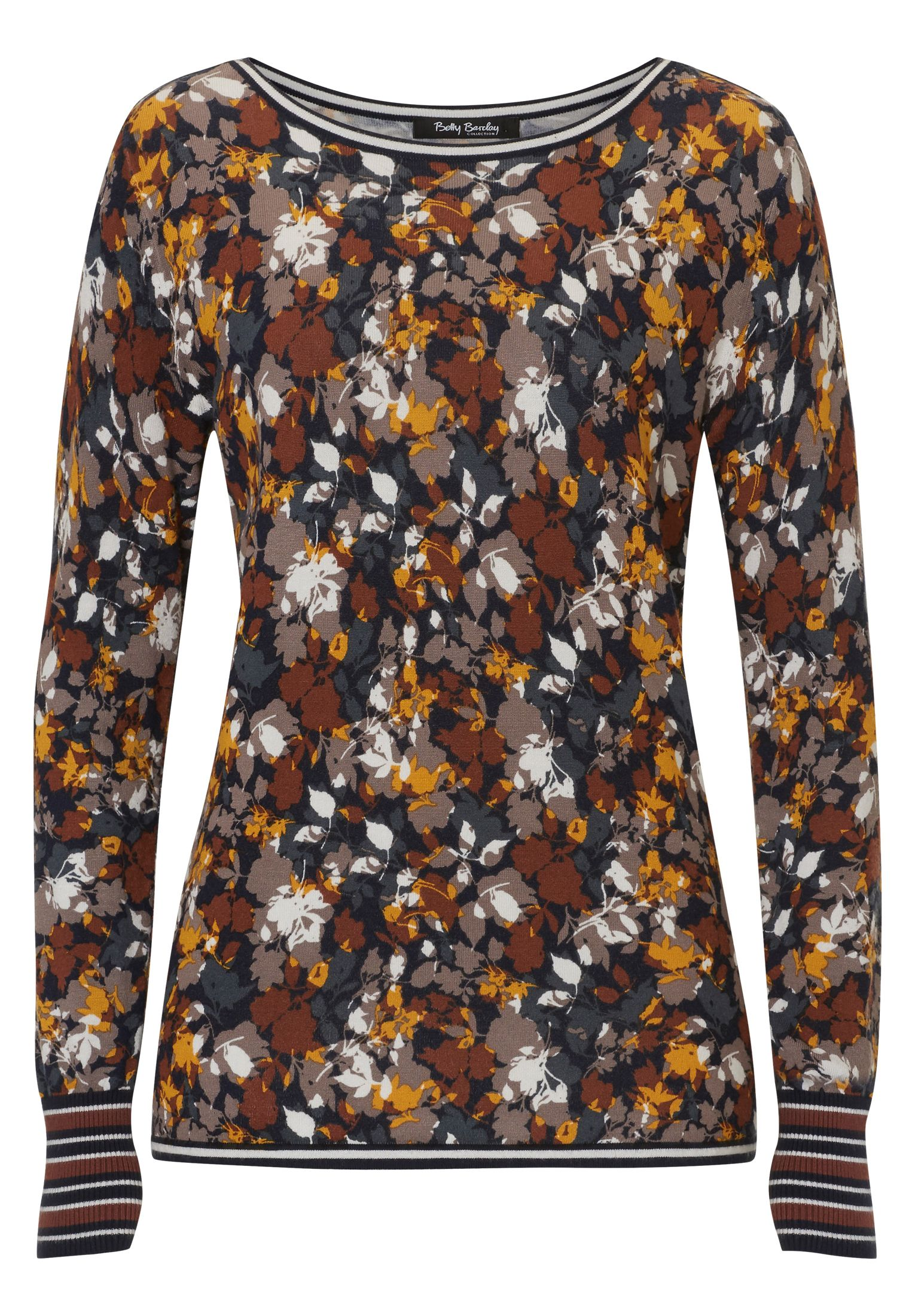 Betty Barclay Floral print jumper, Multi-Coloured