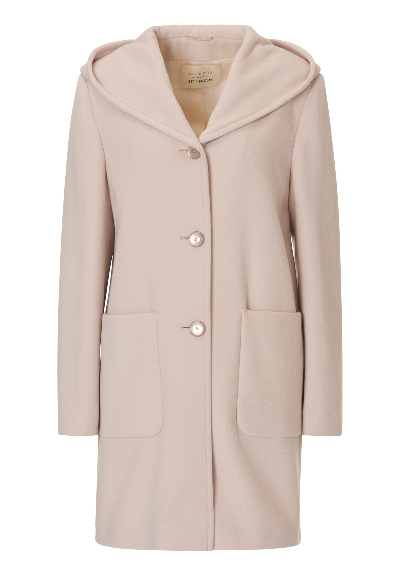 Betty Barclay Hooded coat, Almond Cream
