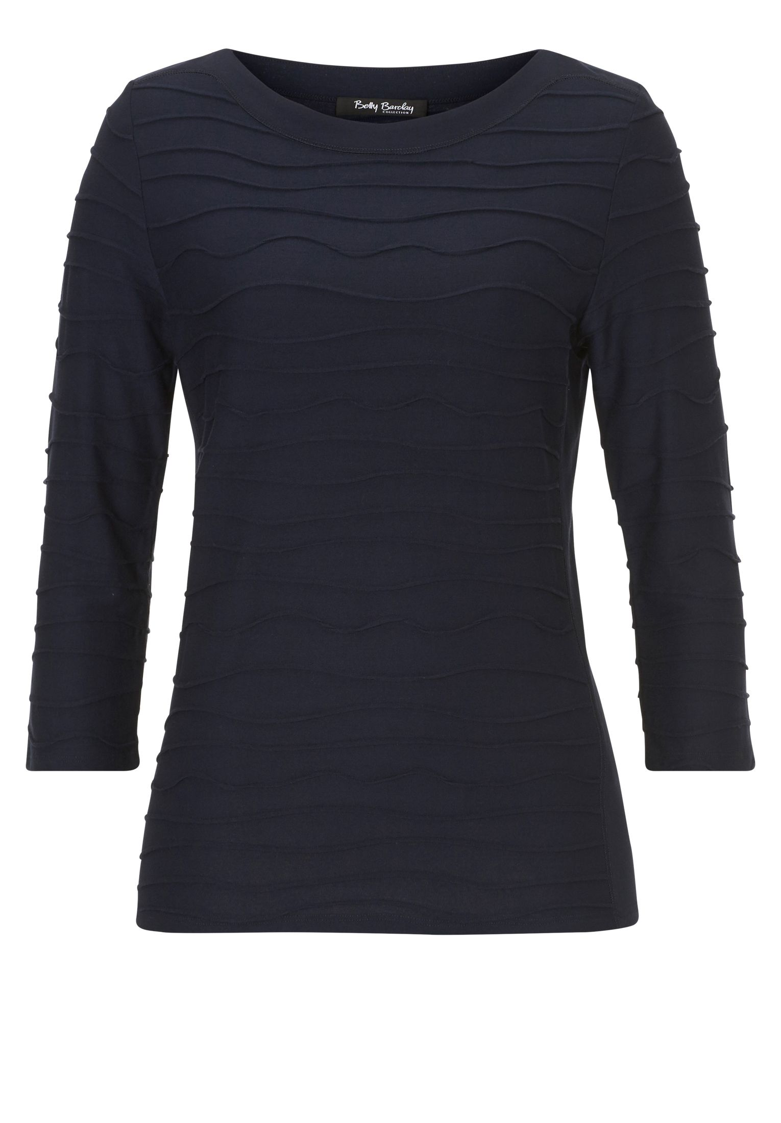 Betty Barclay Ripple ribbed top, Blue