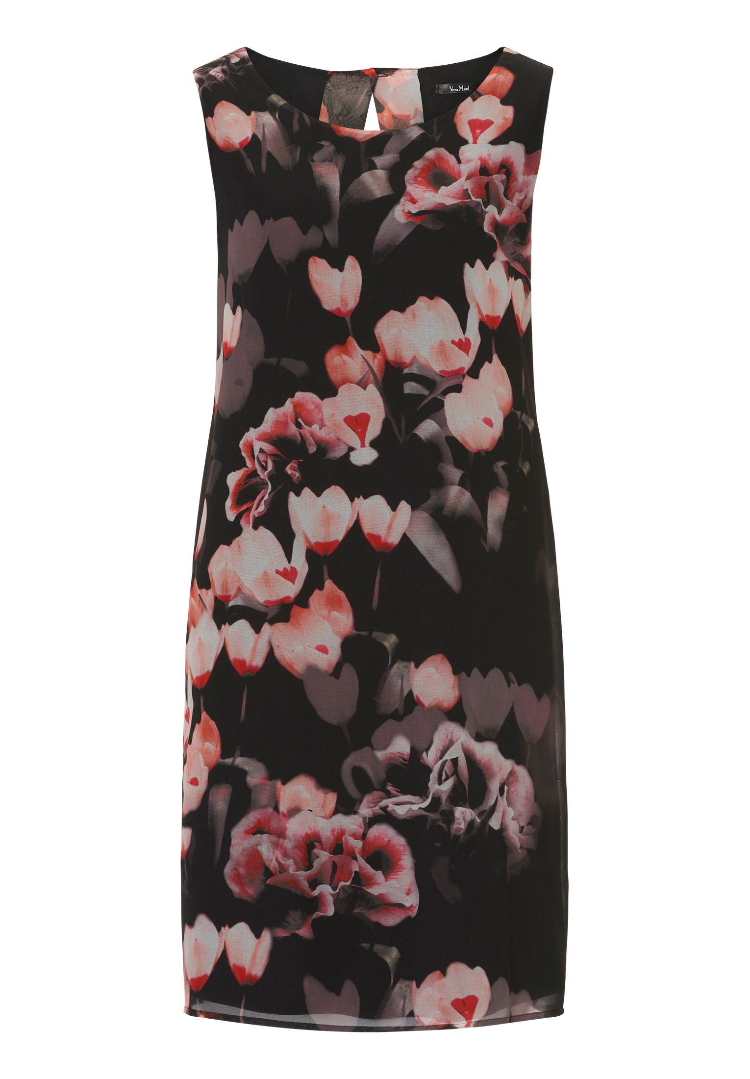 Vera Mont Floral print chiffon dress, Multi-Coloured