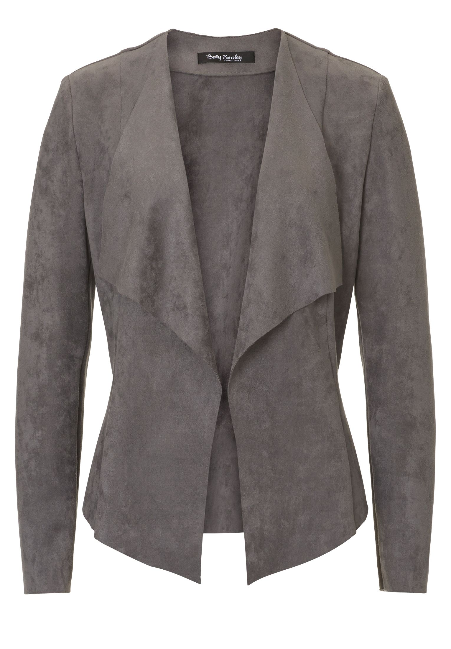 Betty Barclay Faux suede jacket, Grey