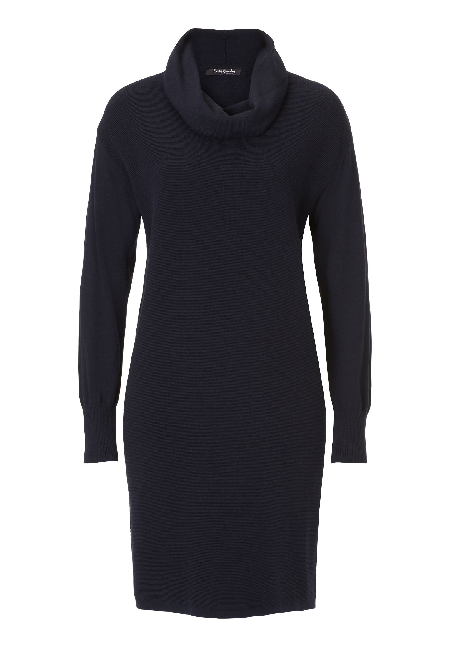 Betty Barclay Fine ribbed knitted dress, Blue