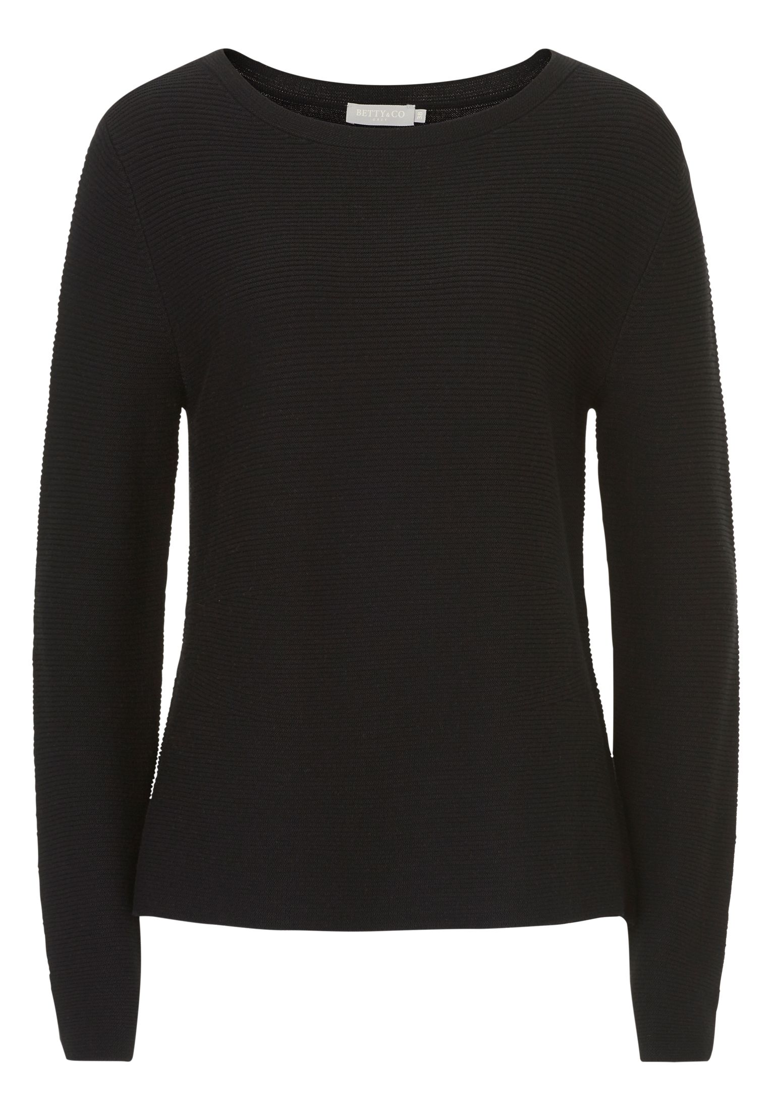 Betty & Co. Ribbed knit jumper, Black