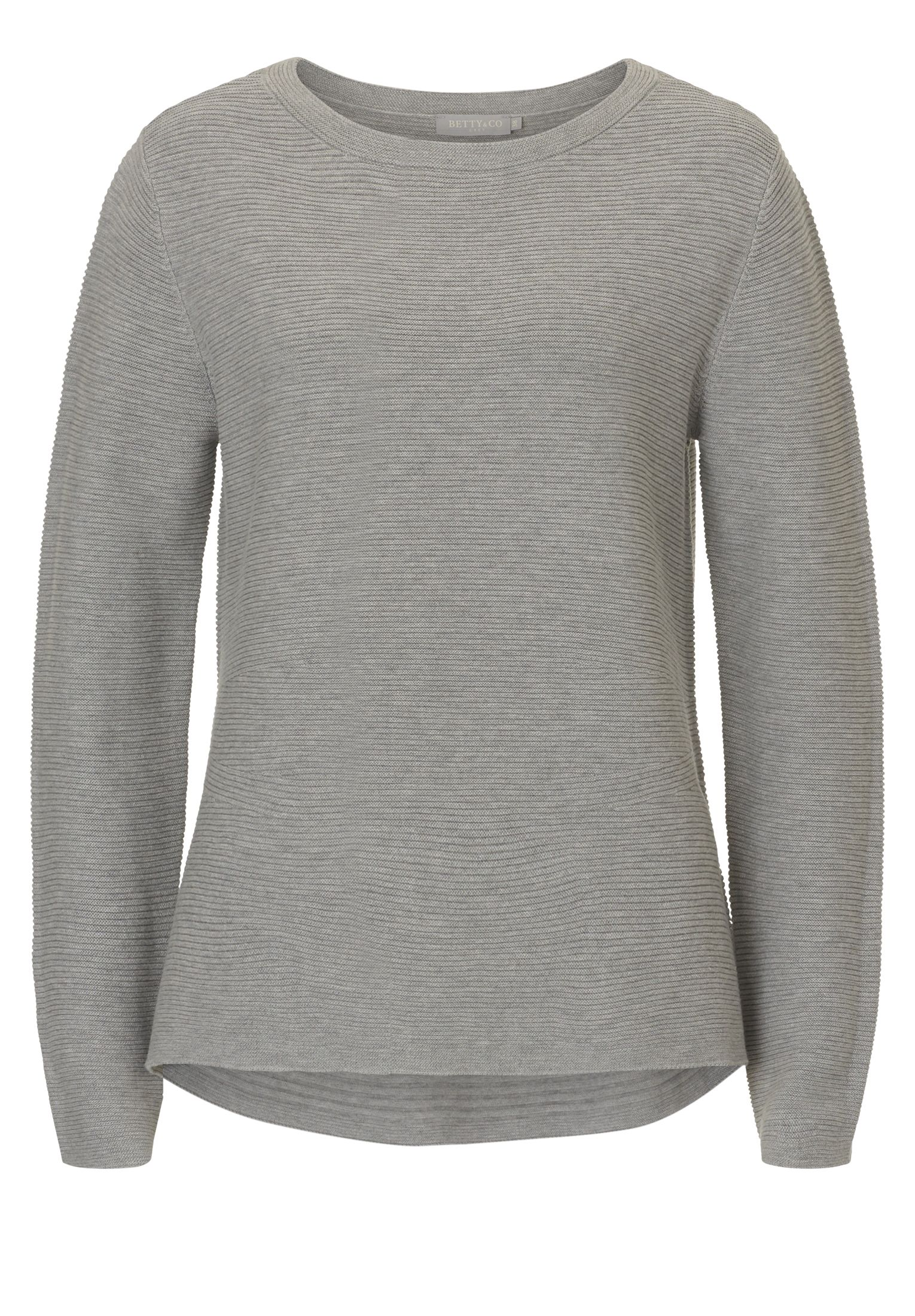 Betty & Co. Ribbed knit jumper, Light Grey