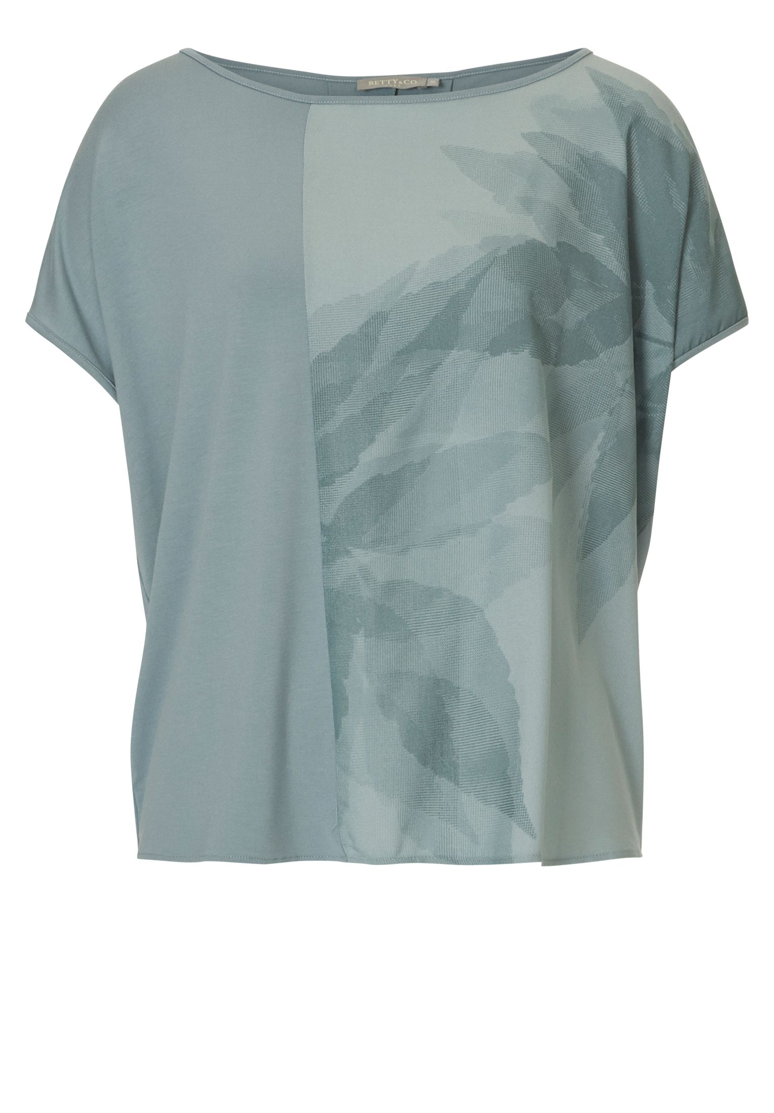 Betty & Co. Leaf print top, Blue