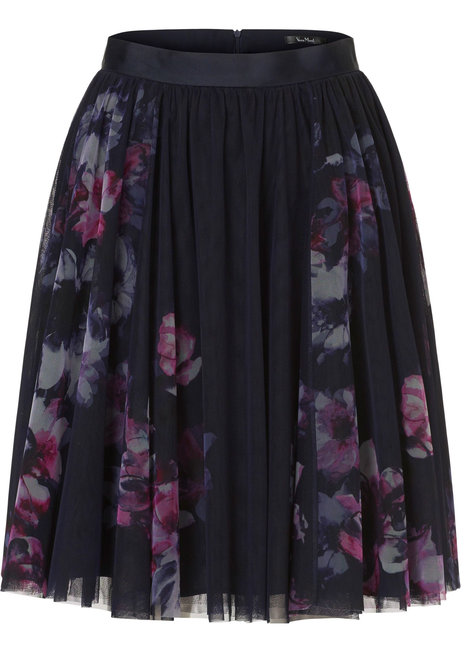 Vera Mont Net layered skirt, Blue