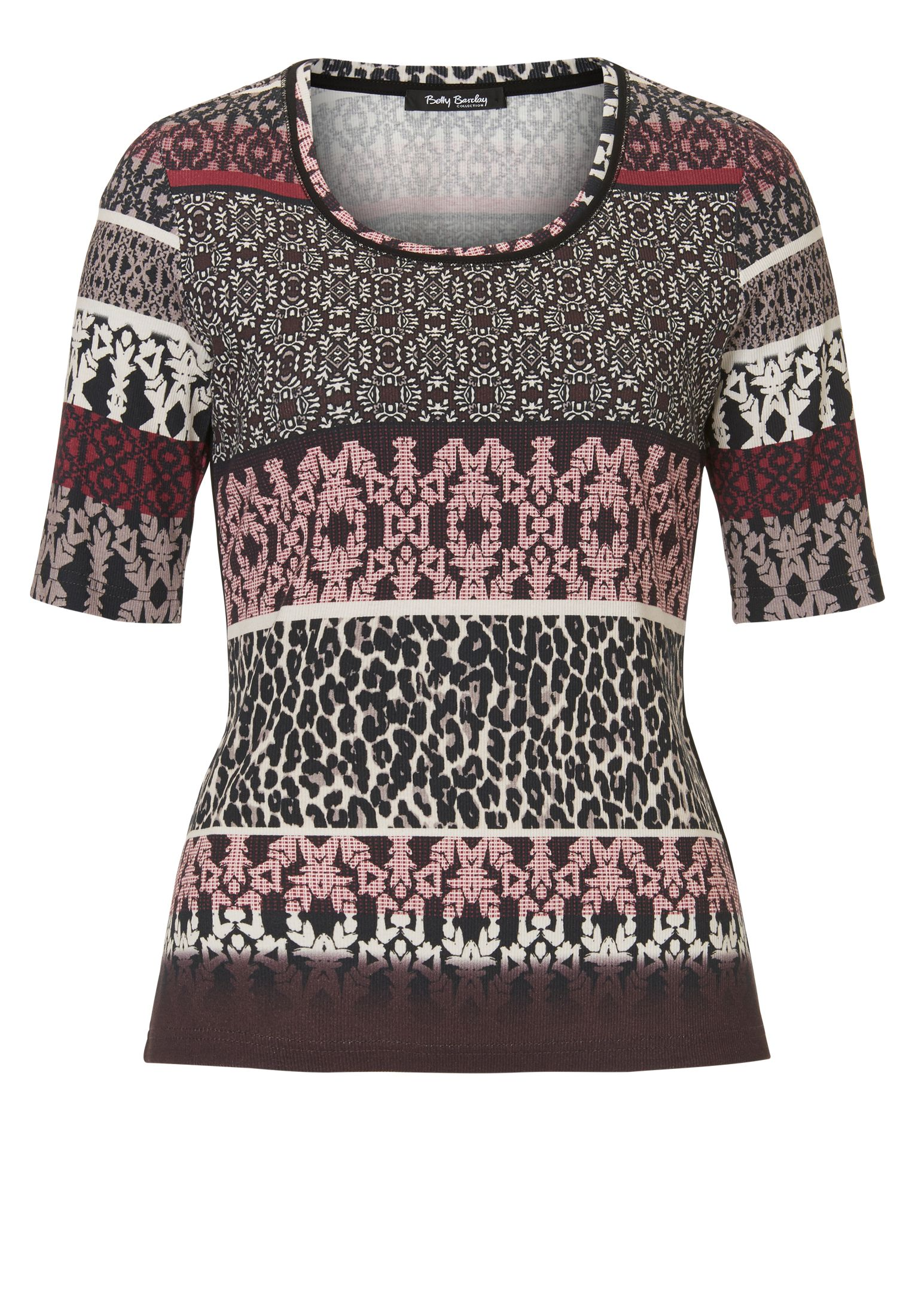Betty Barclay Graphic and animal print top, Multi-Coloured