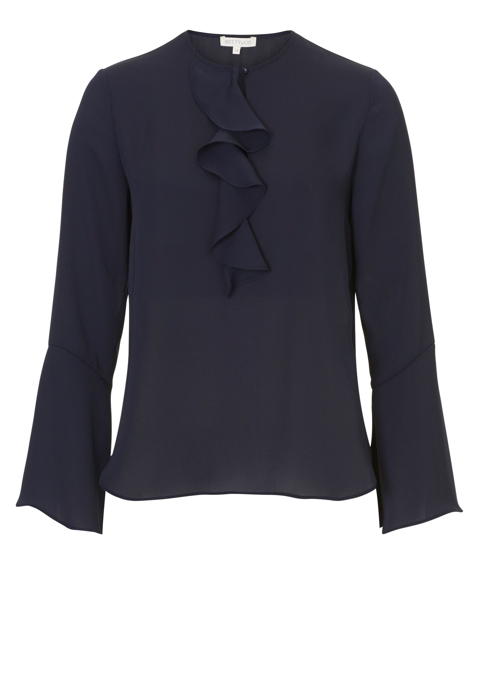 Betty & Co. Ruffled blouse, Blue
