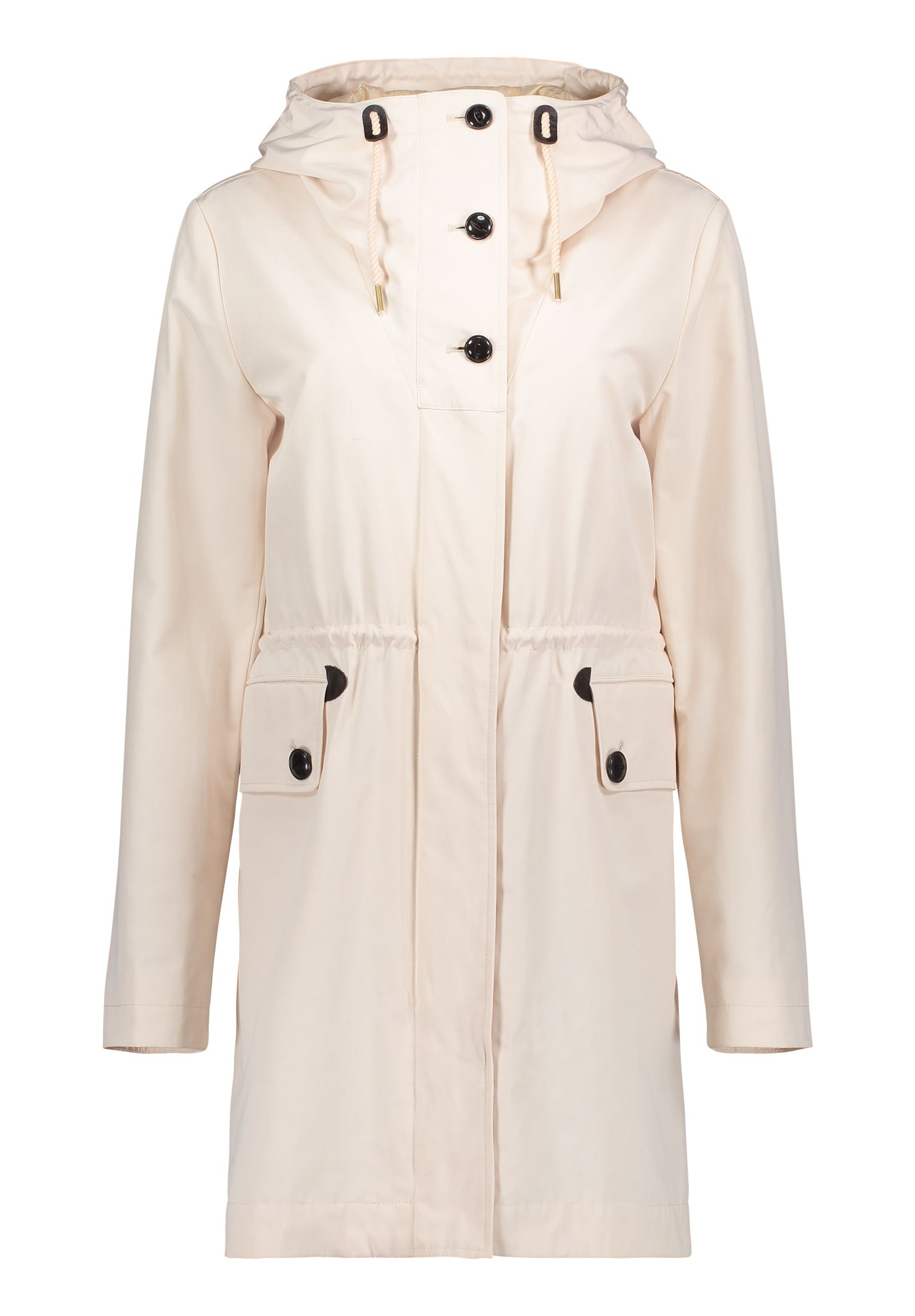Betty Barclay Crossover Hooded Parka, White