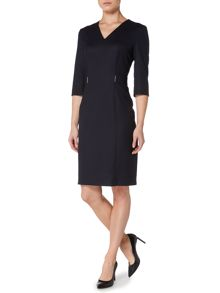 Hugo Boss Dazina Stretch Flannel Fitted Dress