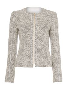Koralie9 Cotton Boucle Zip Thru Jacket