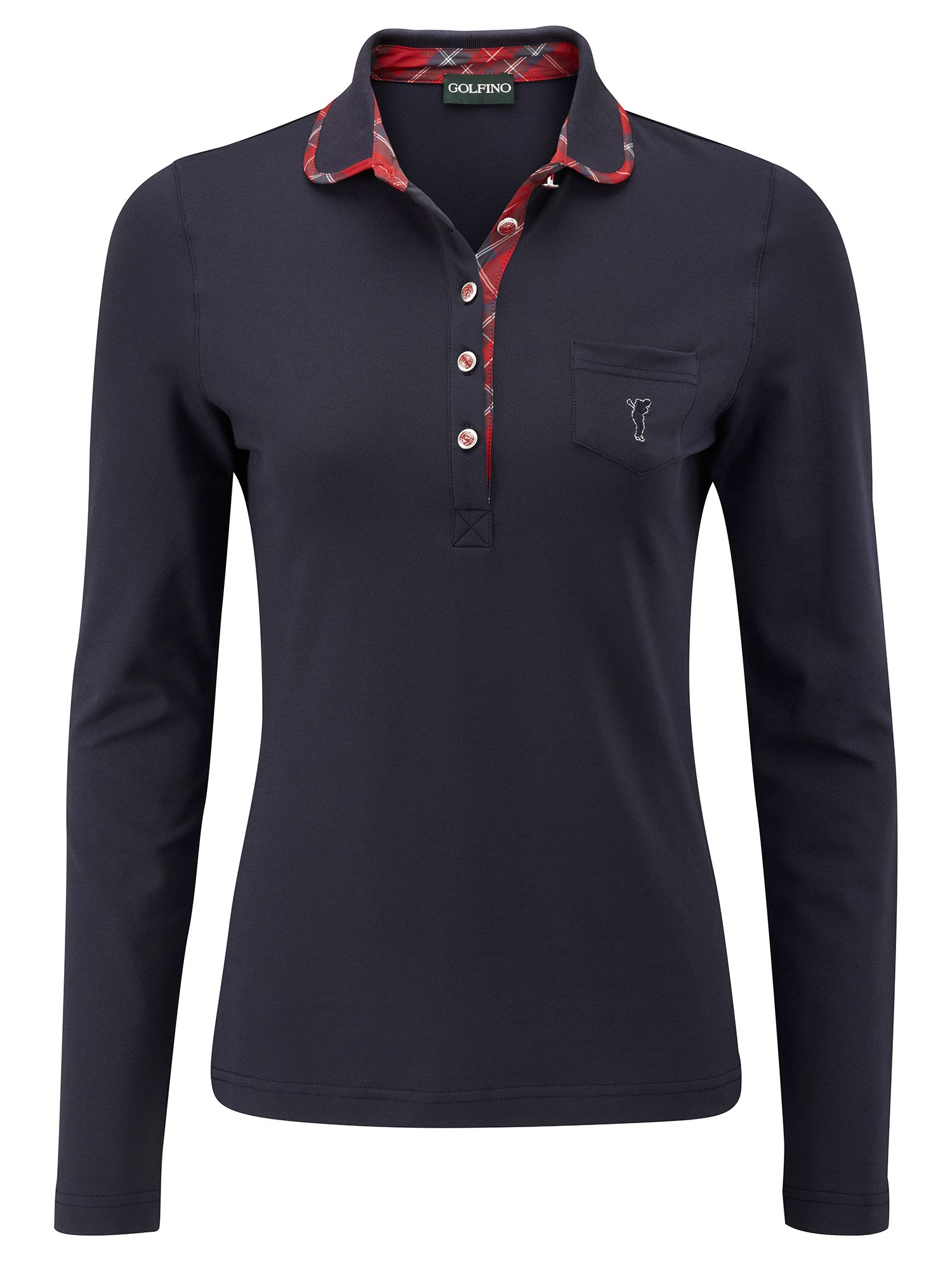 Piqué UV long sleeve polo