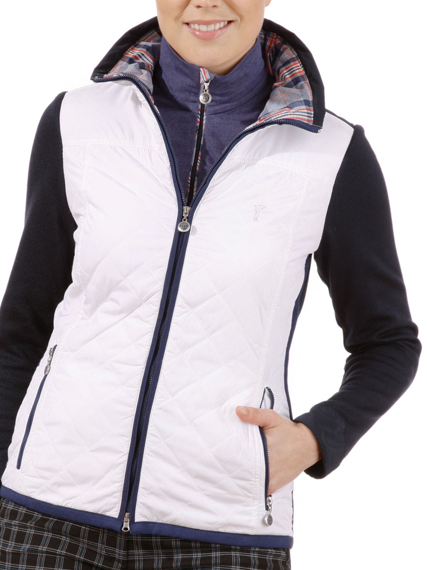 Fleece jacket with micro padding