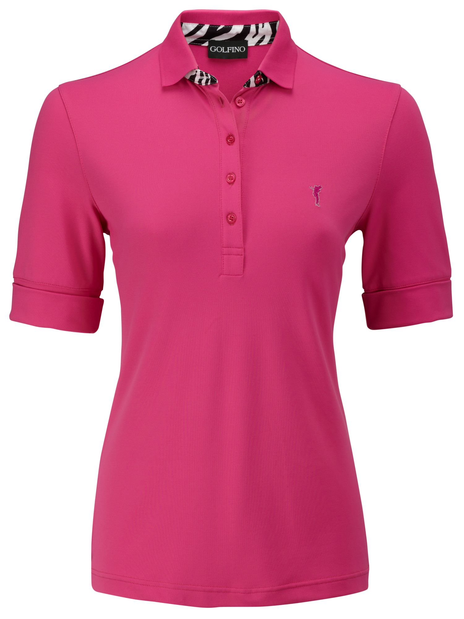 Dc pique roll up sleeve polo