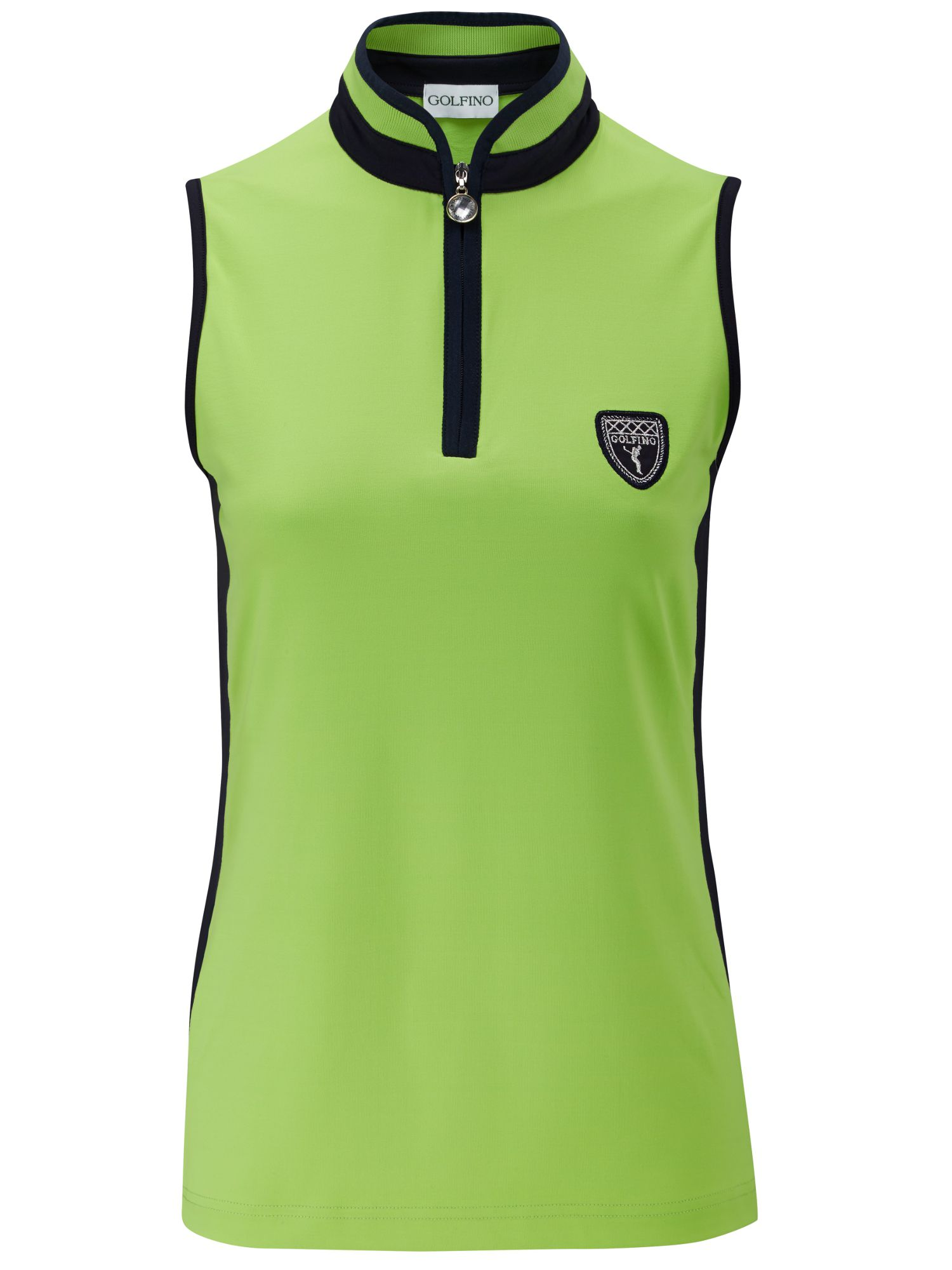 Dc jersey sleeveless zip polo