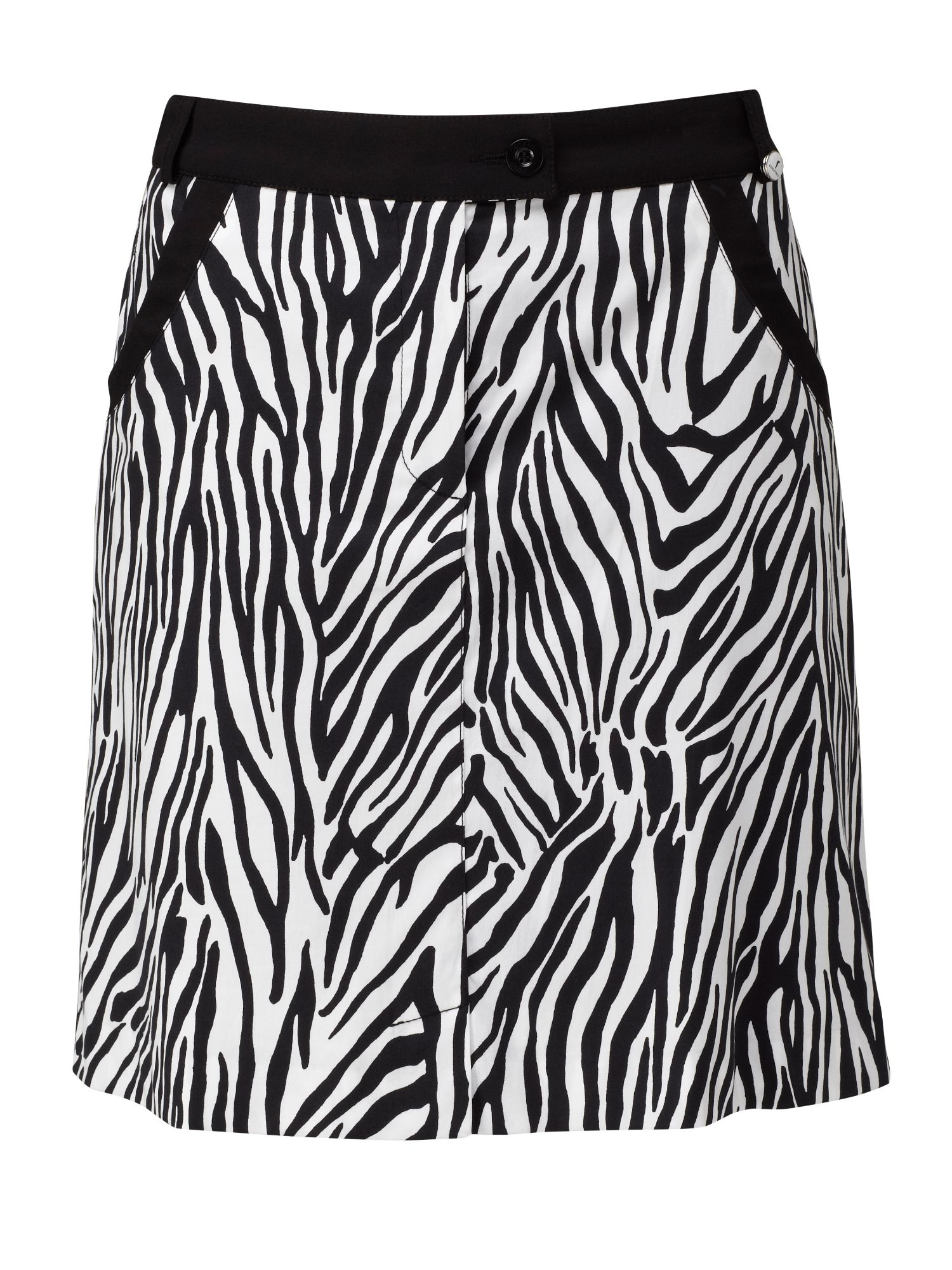 Zebra print stretch skort