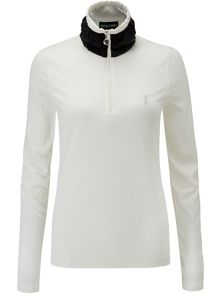 Golfino Long sleeve stretch polarlight troyer