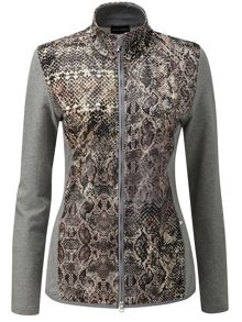 Stretch snake printed jacket
