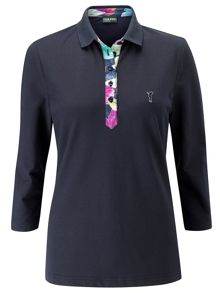 UV protection 3/4 sleeve polo