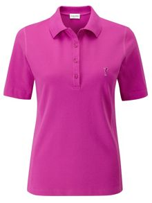 Sun protection short sleeve polo