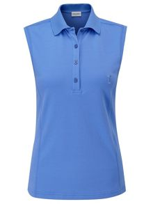 Sun protection sleeveless polo