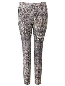 Snake printed trousers