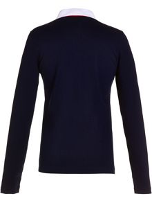 Golfino Long sleeved jacquard polo