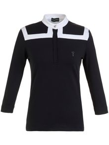 Golfino 3/4 Sleeve Mock Polo