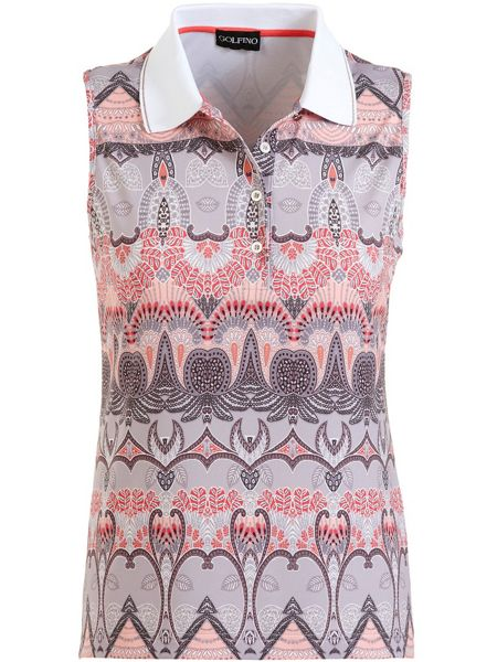 Golfino Printed Sleeveless Polo