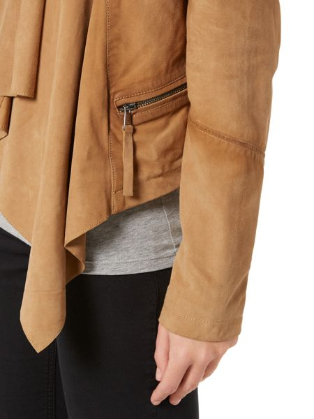 Oui Suede waterfall jacket