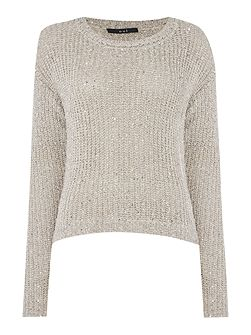 Long sleeve layer sequin jumper