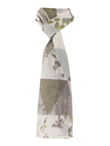 Oui Rose and snake diamond print scarf