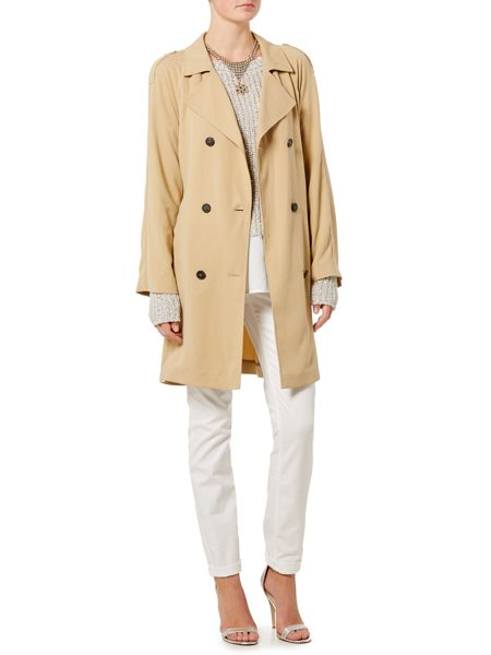 Oui Relaxed double breasted coat
