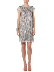 Oui Feather Sequin Dress