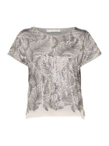 Oui Feather Sequin Top