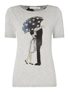 Oui Umbrella print t-shirt